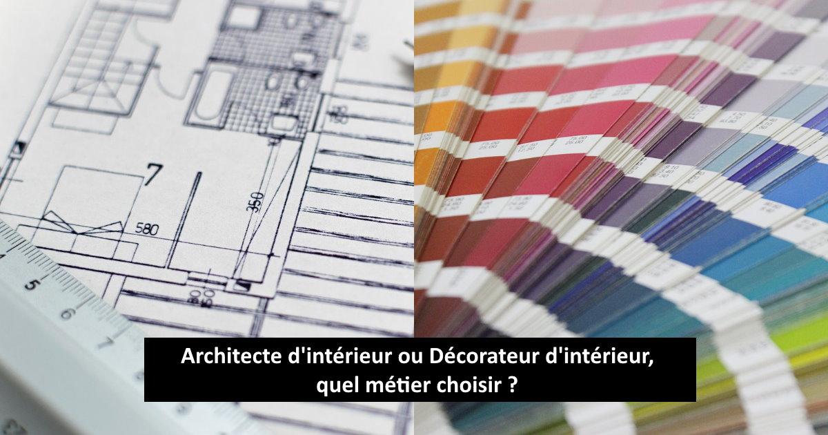 architecte ou décorateur d'intérieur